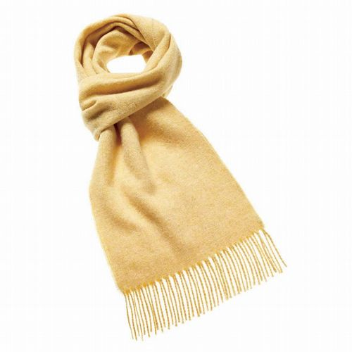 Merino Wool Scarf - Parchment Yellow